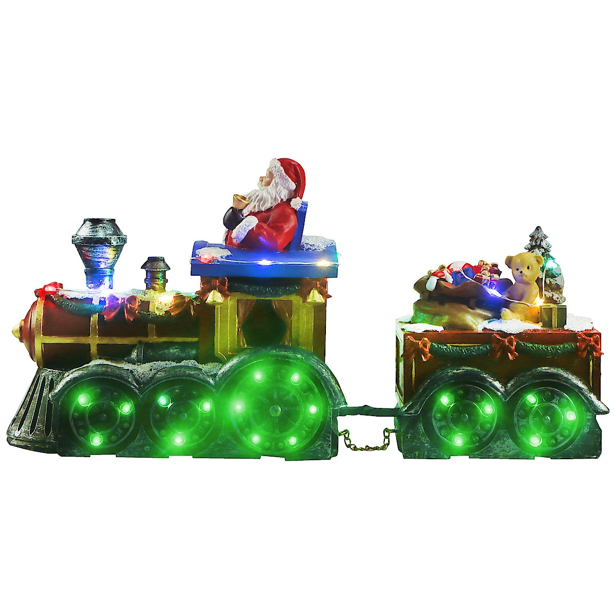 Jultåg med belysning och musik