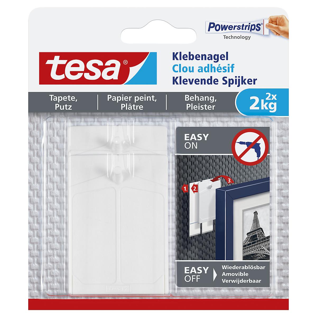 Självhäftande spikar Tesa, 2-pack