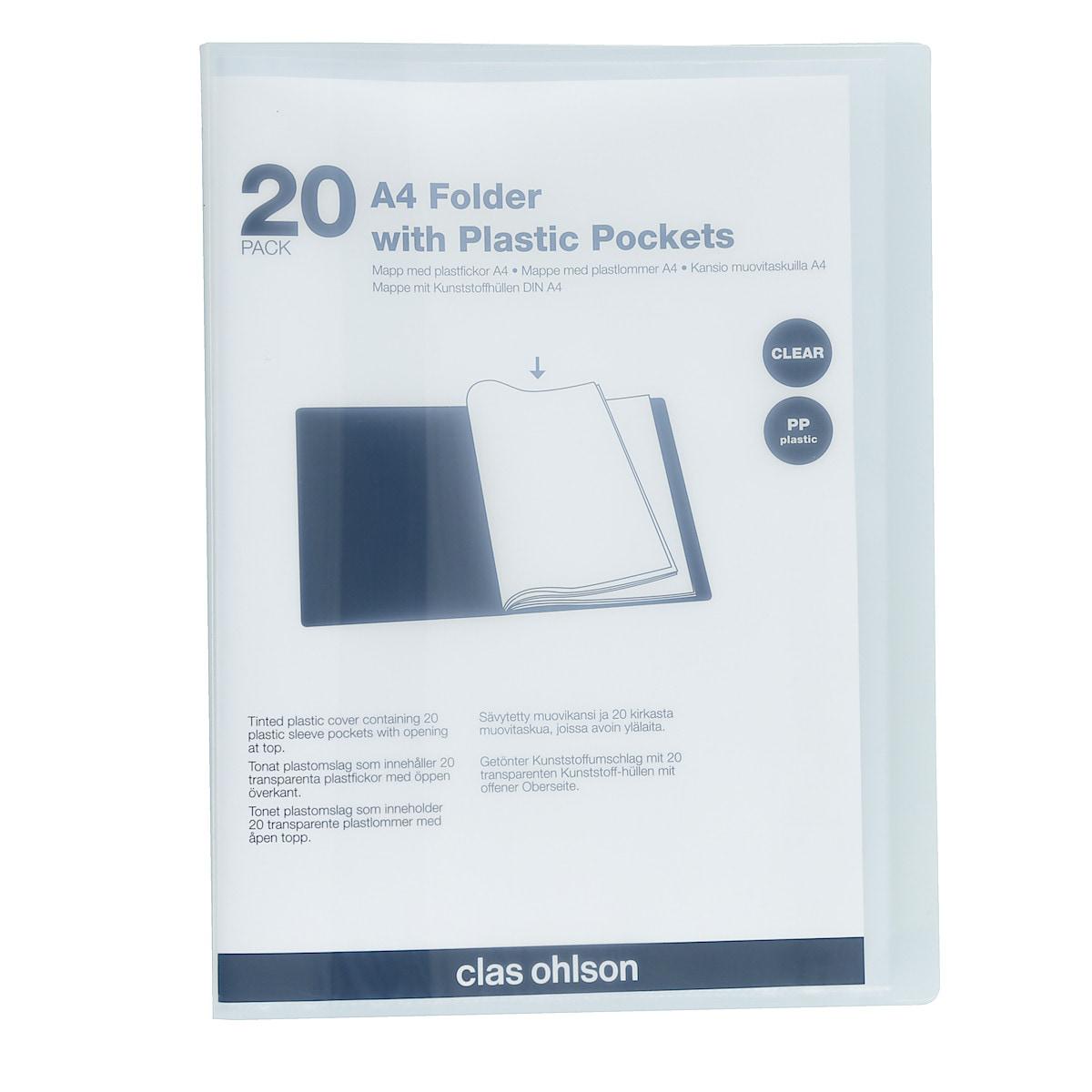 Esittelykansio A4, 20 taskua