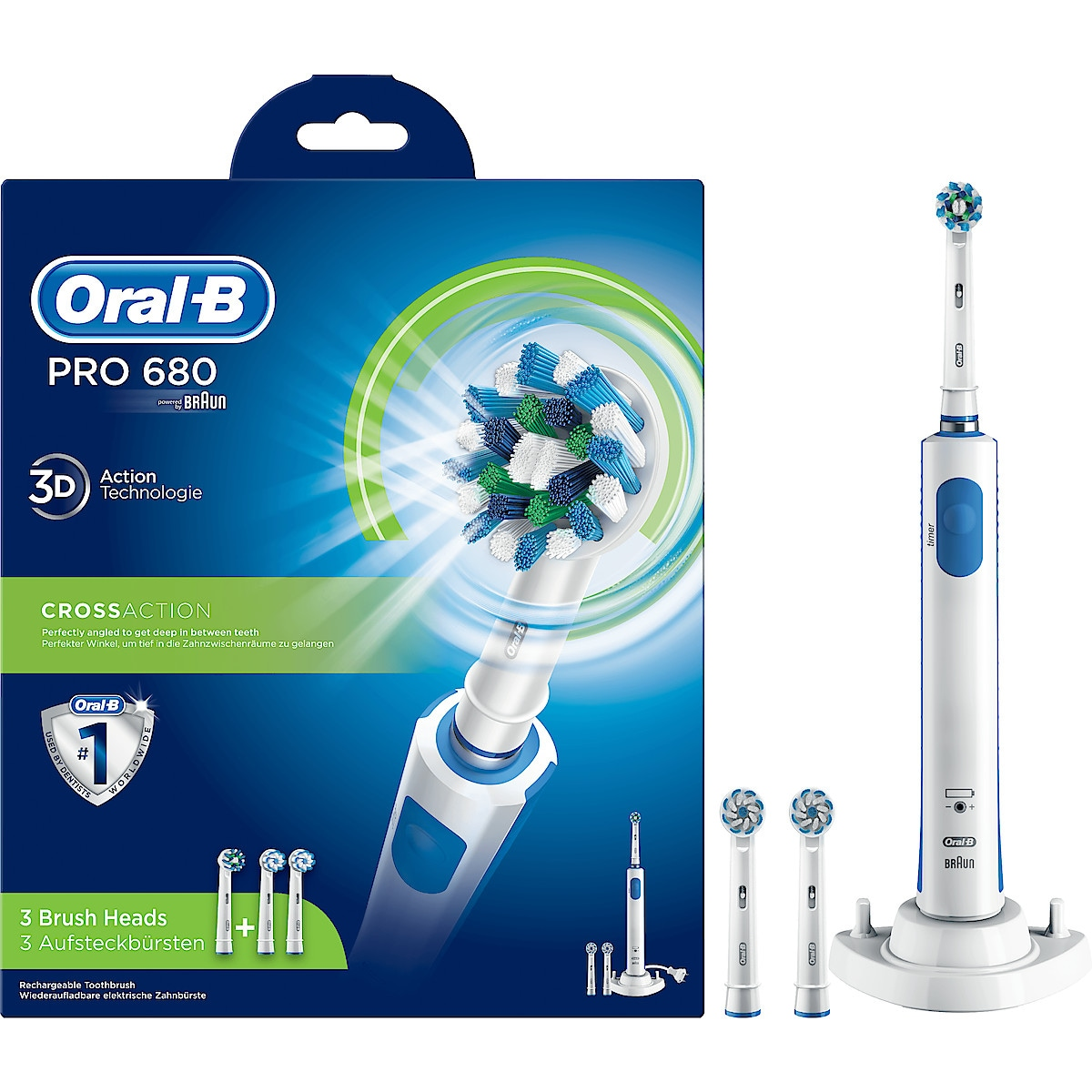 Sähköhammasharja Oral-B PRO 680 Cross Action