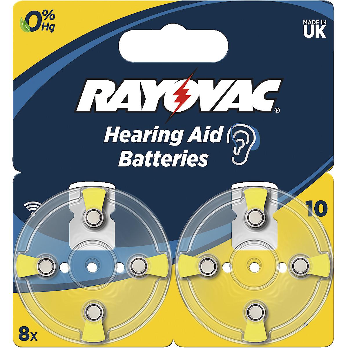 Rayovac 10 høreapparatbatteri