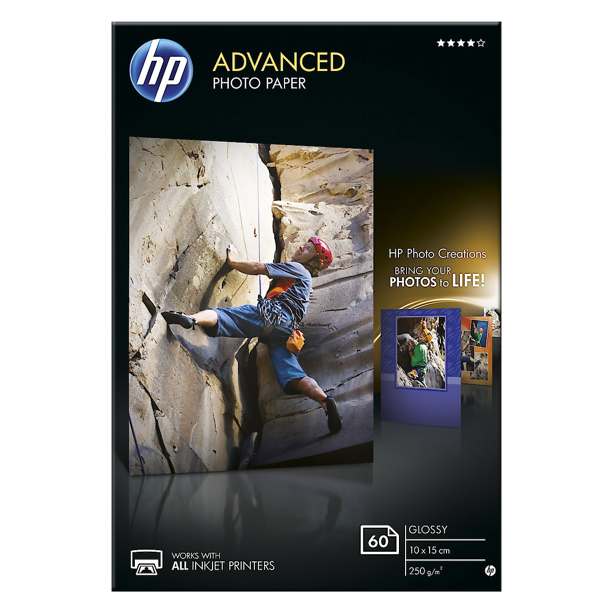 HP Advanced 10x15 cm Glossy Photo Paper