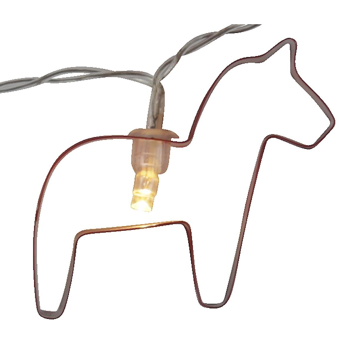 Batteridriven ljusslinga med dalahästar