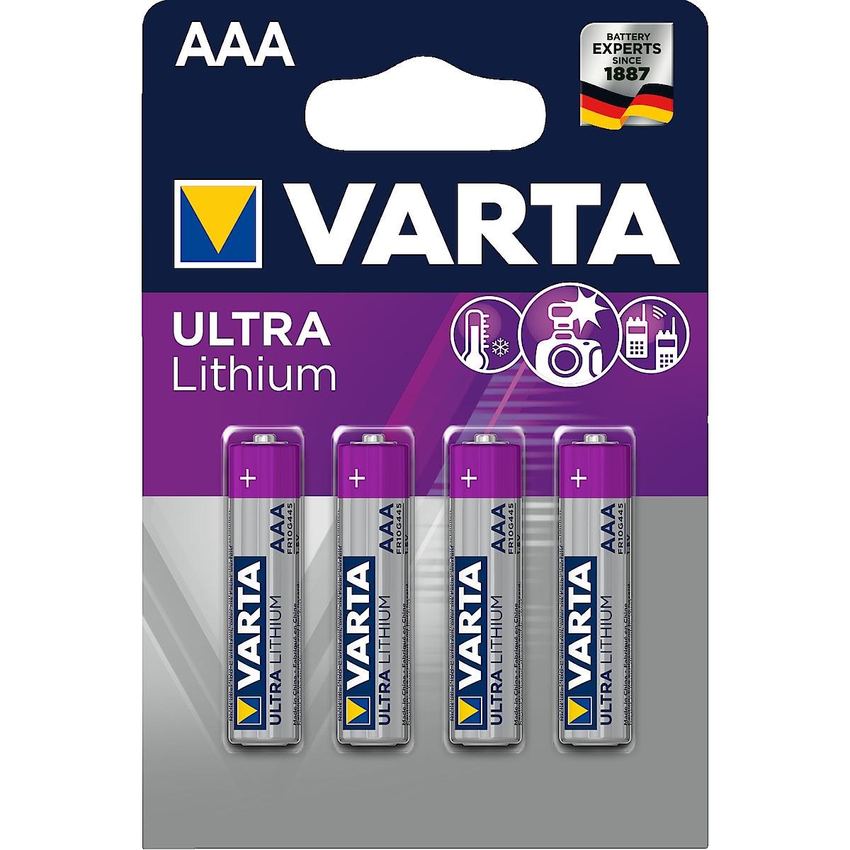 VARTA Ultra Lithium AAA/FR03 litiumbatteri