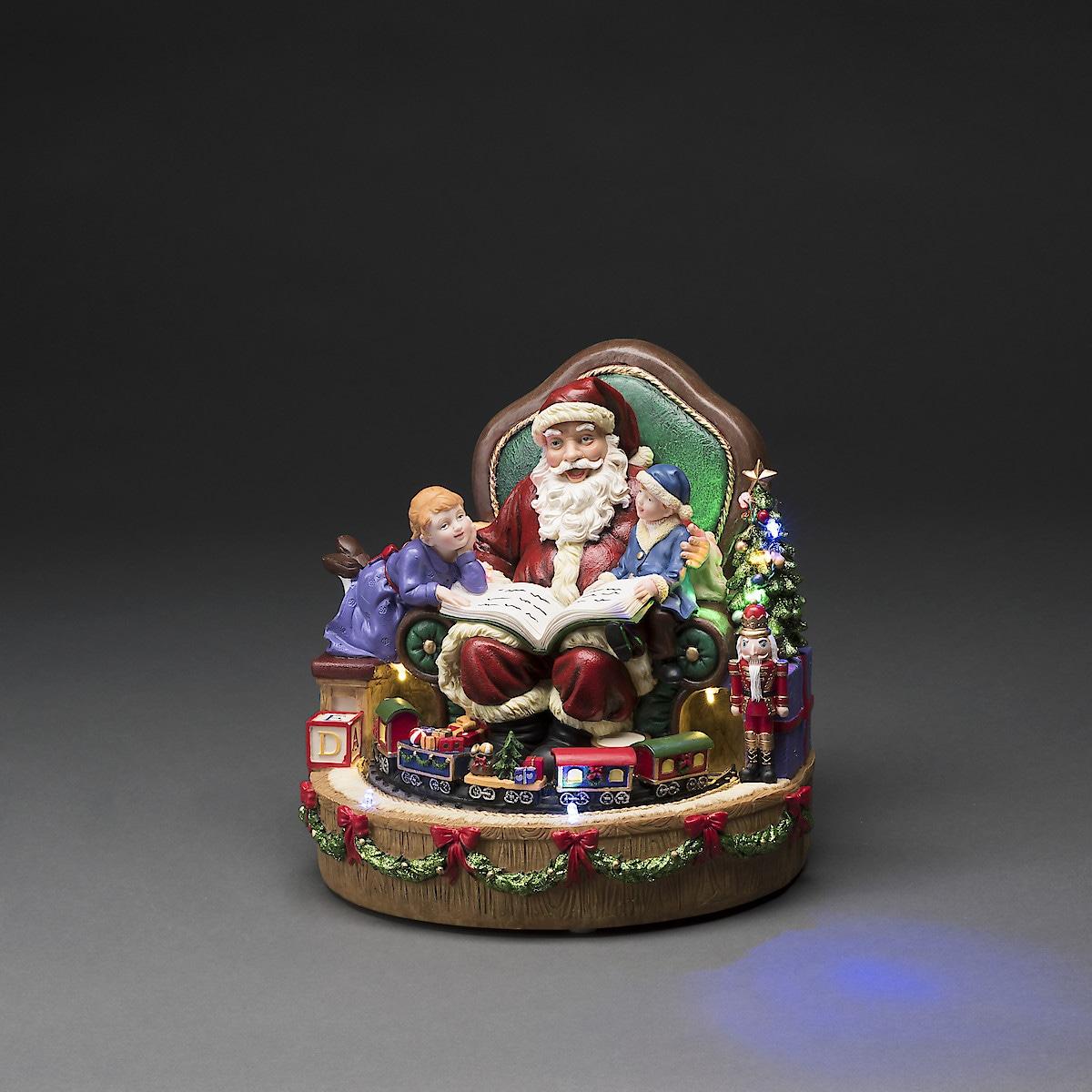 Weihnachtsmann mit Beleuchtung und Musik, Konstsmide