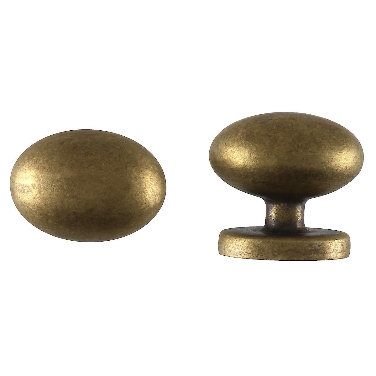 Oval knopp, antik guld