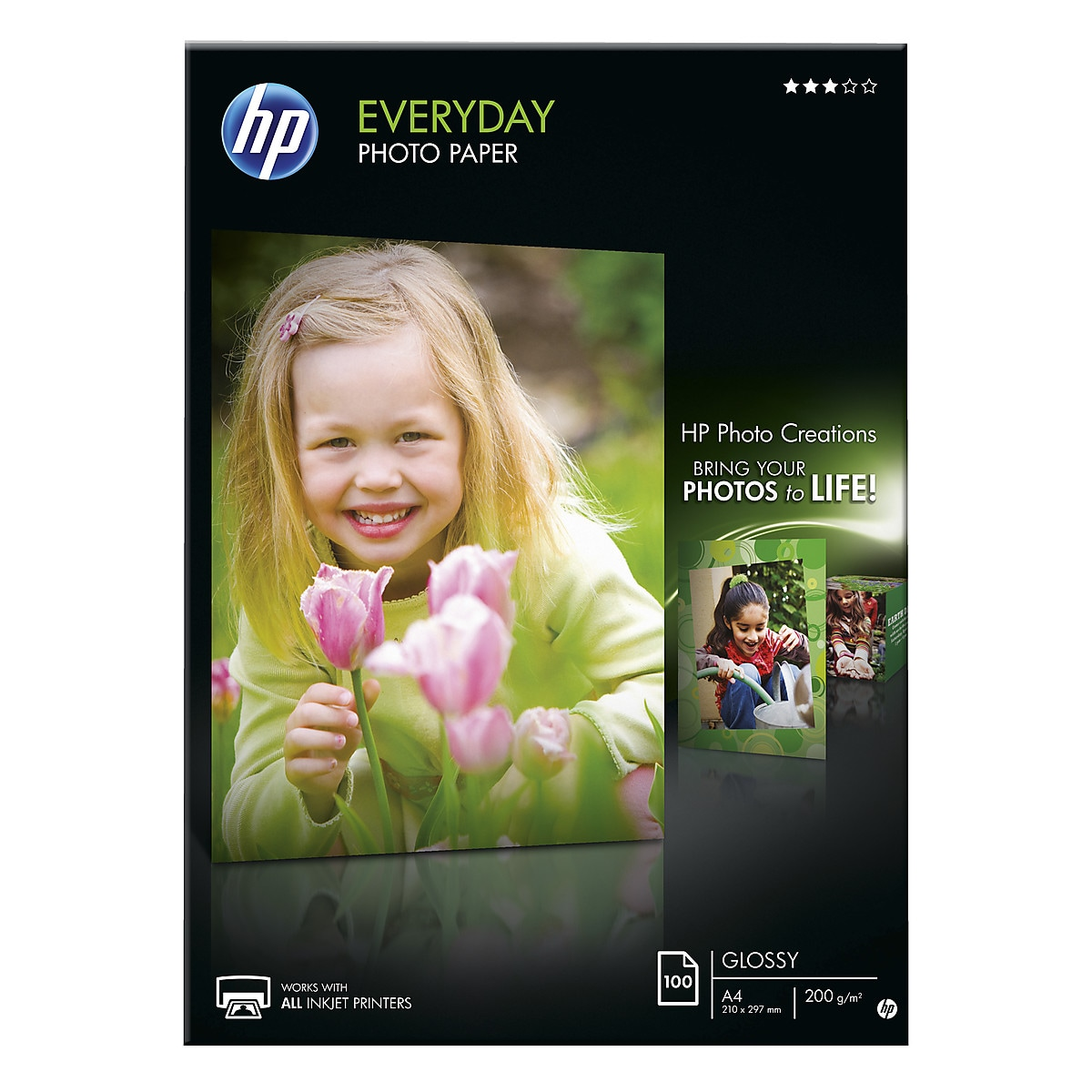 Fotopapper A4 HP Everyday photo paper, Glossy