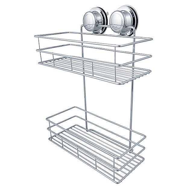 2 Tier Shower Caddy With Vacuum Suction Cup Clas Ohlson