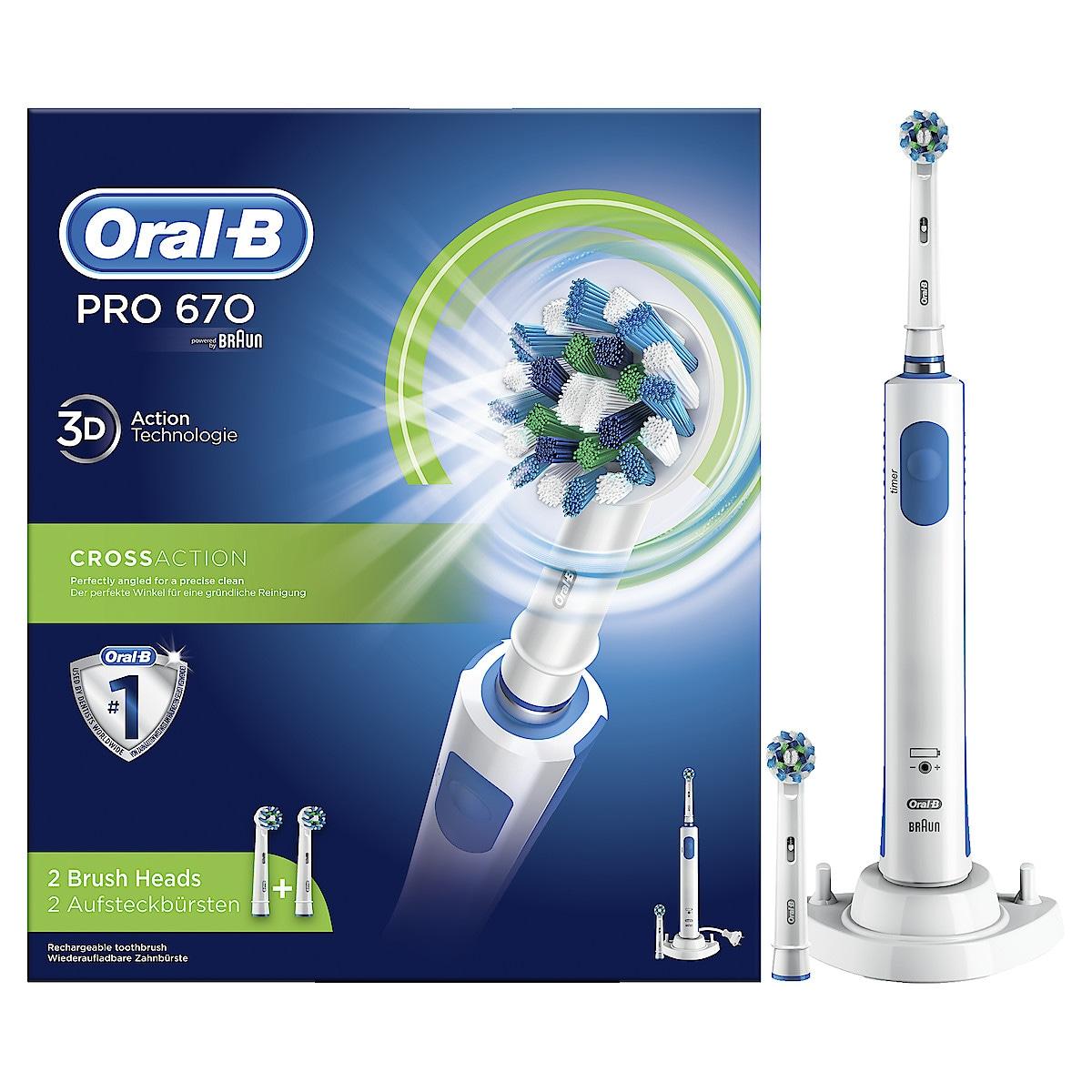 Sähköhammasharja Oral-B PRO 670 Cross Action