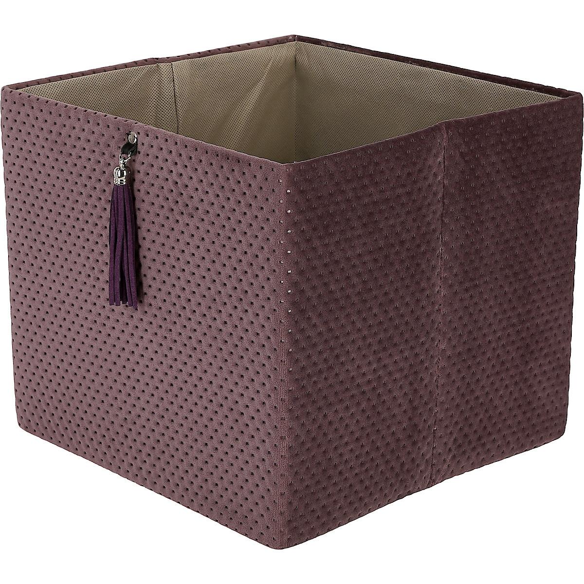 Förvaringslåda kvadrat, sammet