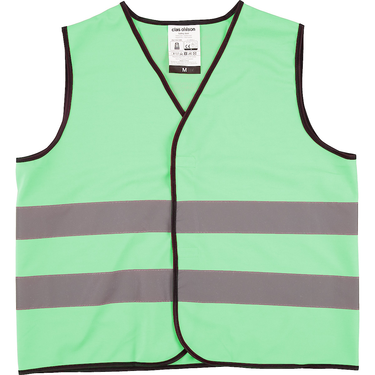Reflexväst grön Clas Ohlson
