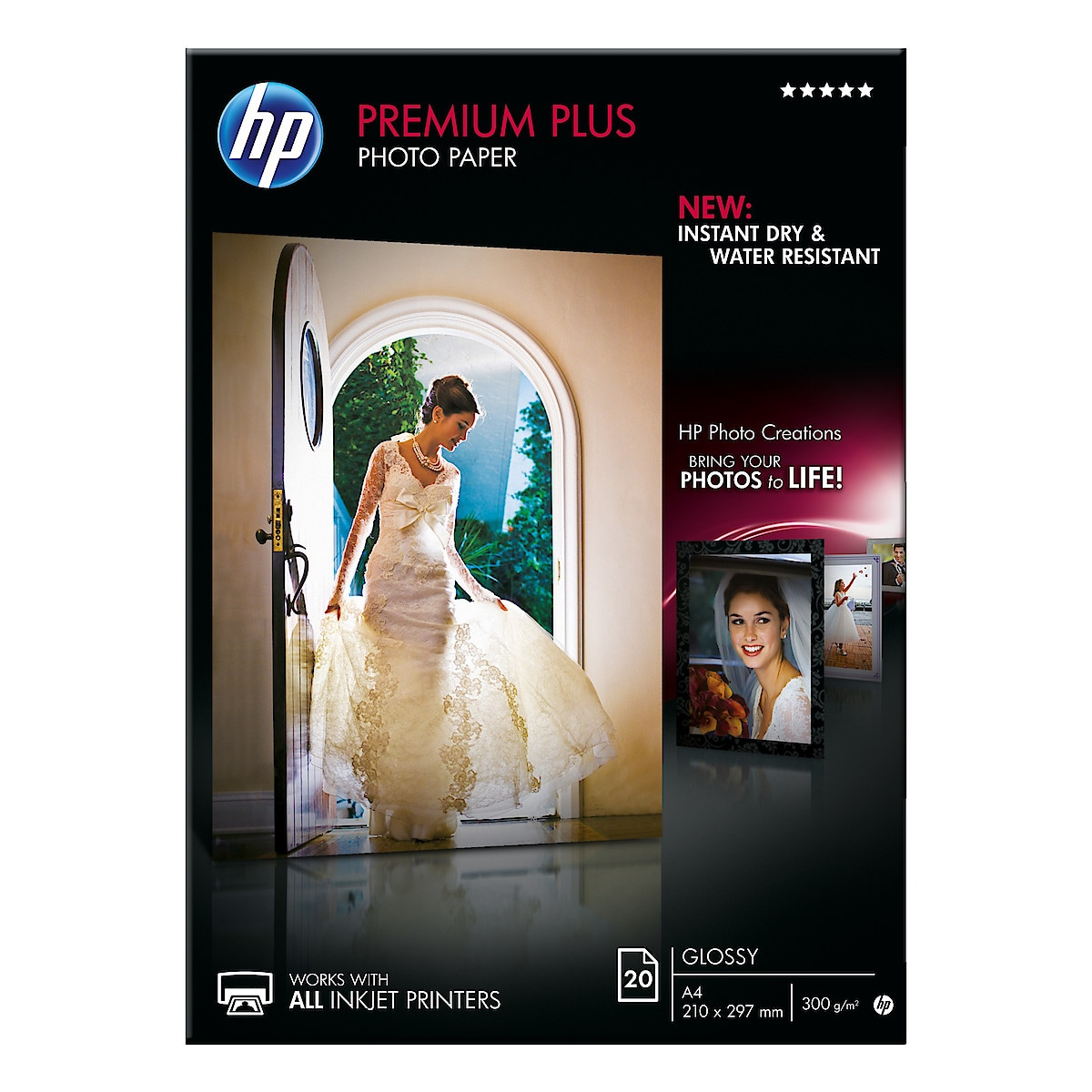Fotopapper A4 HP Premium Plus, Glossy