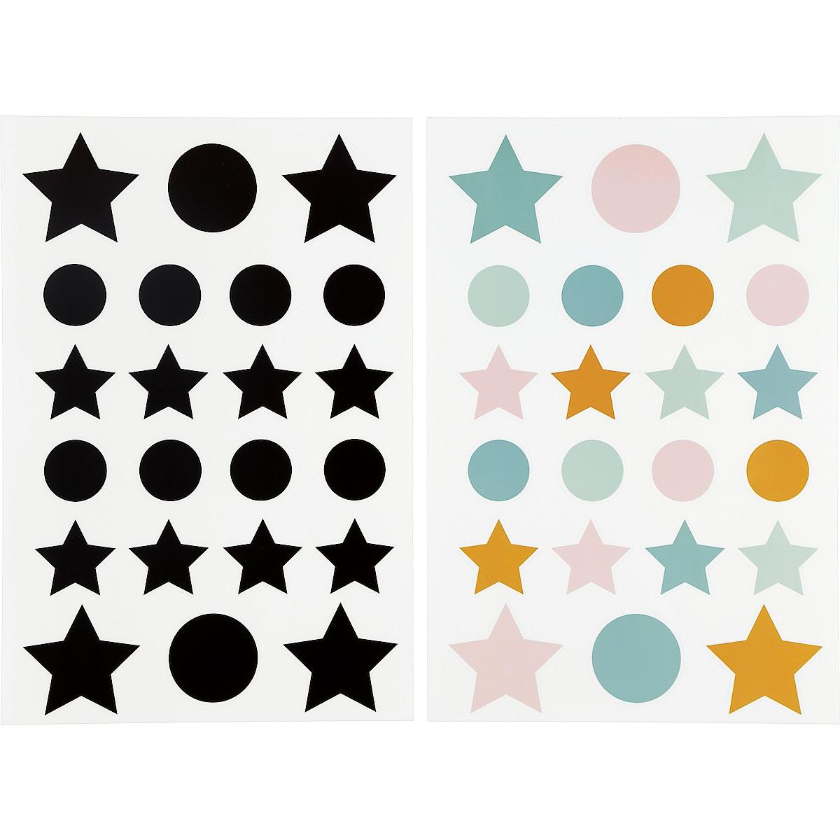 Veggklistremerker, Stjerner og Prikker