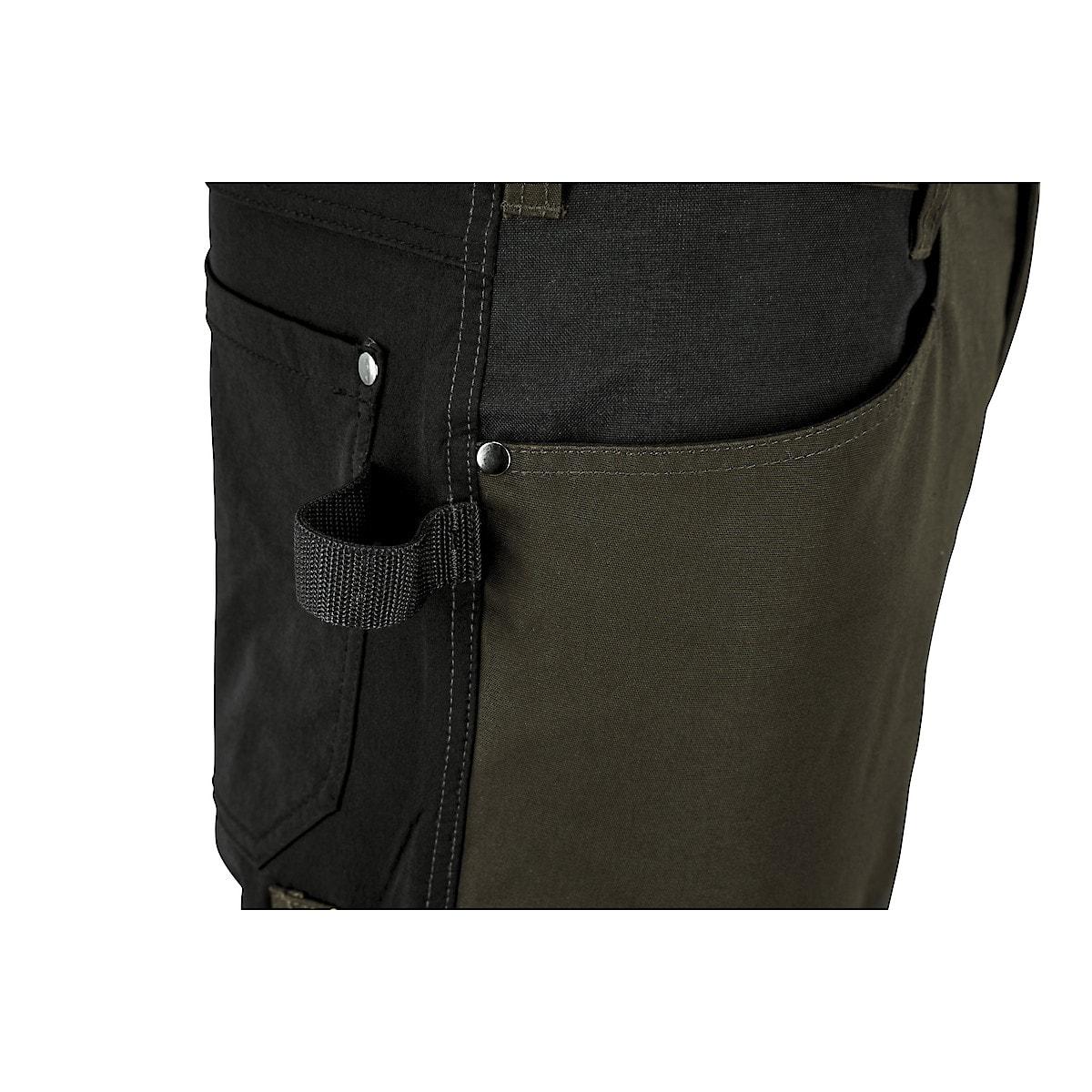 Arbeitshose mit Stretchmaterial, grün/schwarz