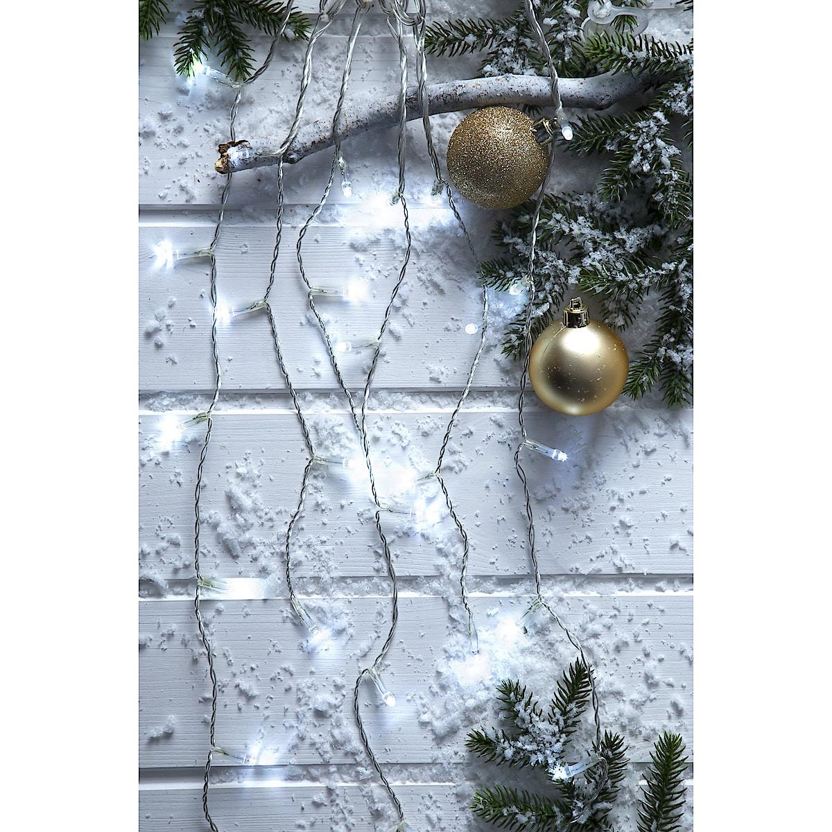 Erweiterbare Eiszapfenlichterkette mit kaltweißen LEDs, Northlight