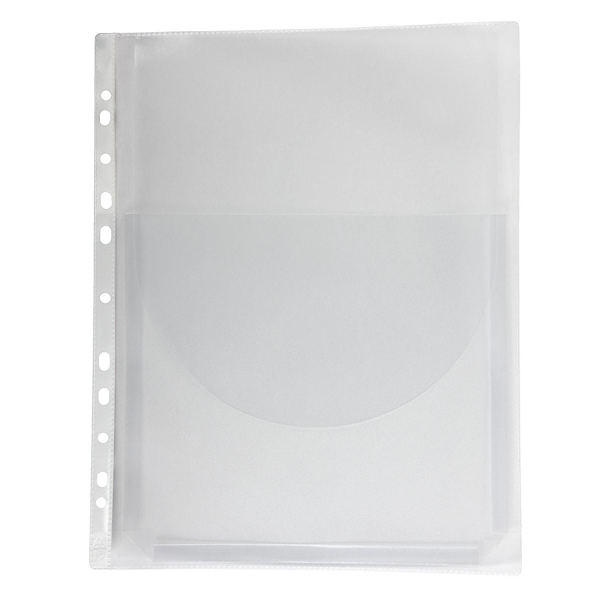 Bälgficka A4 transparent 3-pack