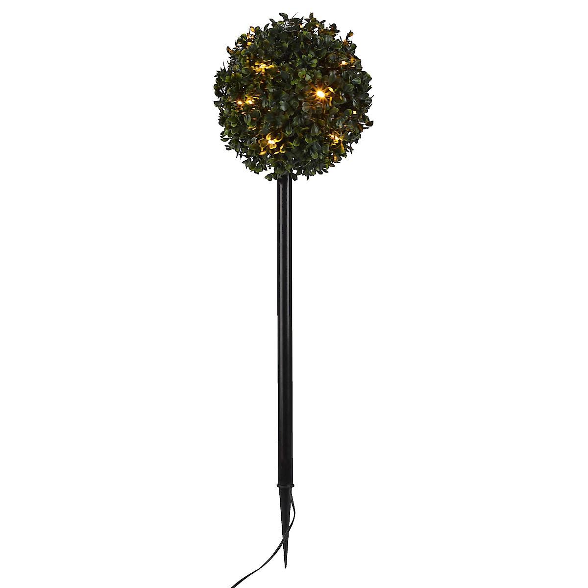 Buksbomball med LED-belysning