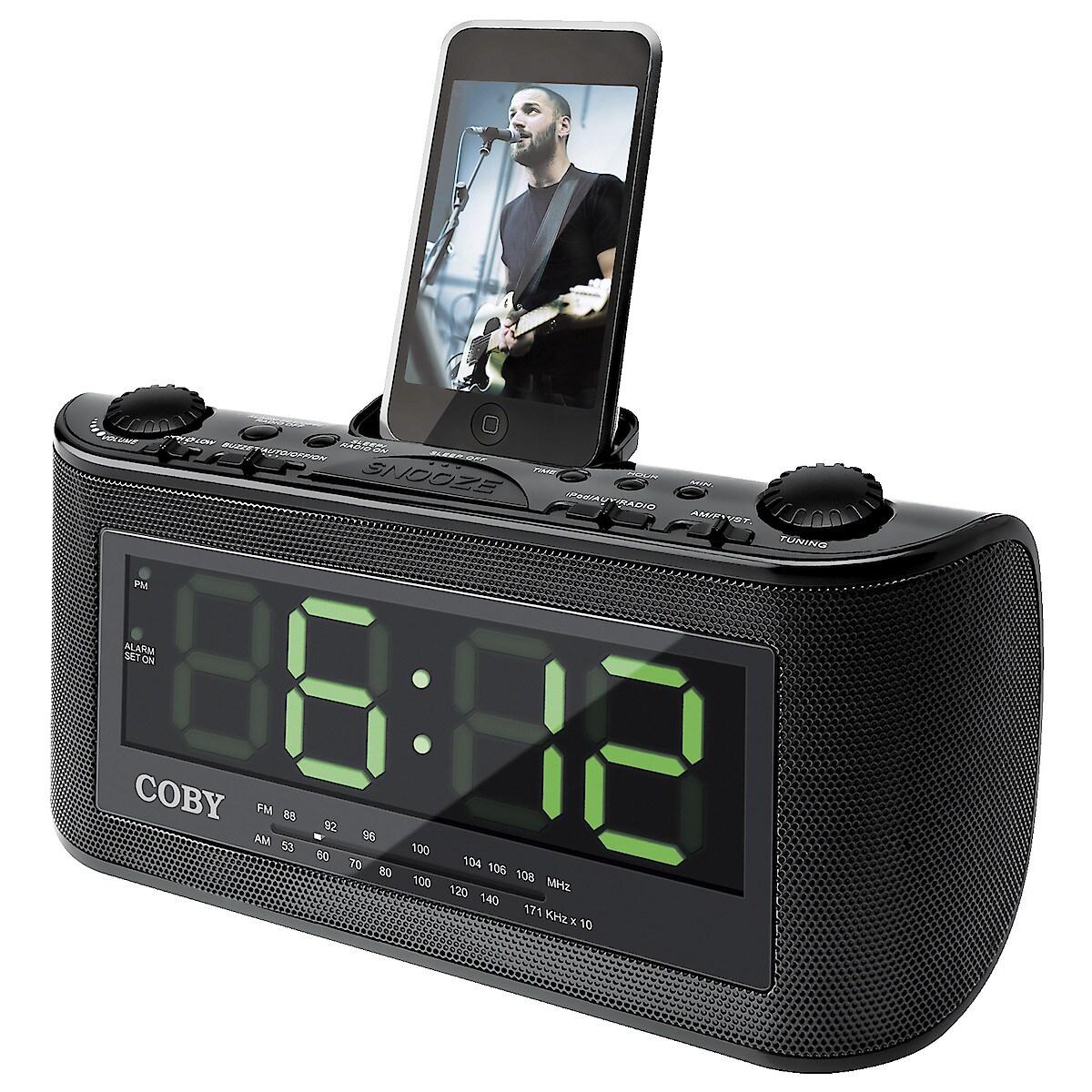 Klokkeradio med dokkingstasjon for iPod