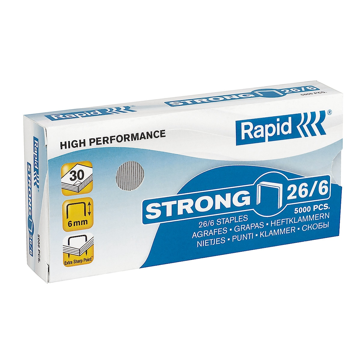Häftklammer Rapid Strong 26/6, 5000 st.