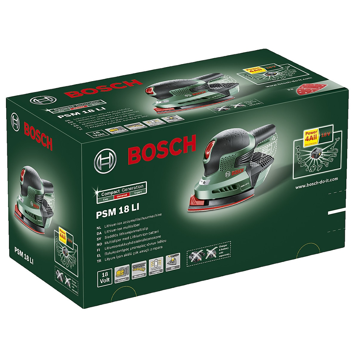 Multihiomakone Bosch PSM 18 LI