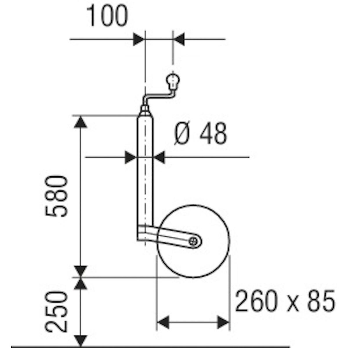 Stödhjul AL-KO Plus