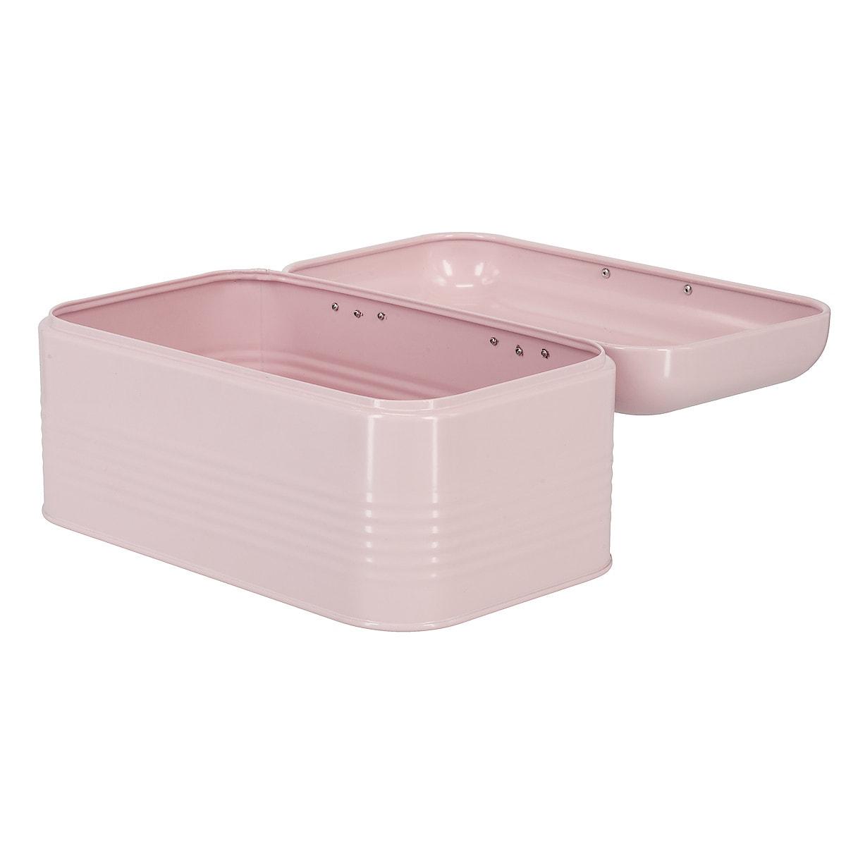 Brödbox liten, rosa/guld