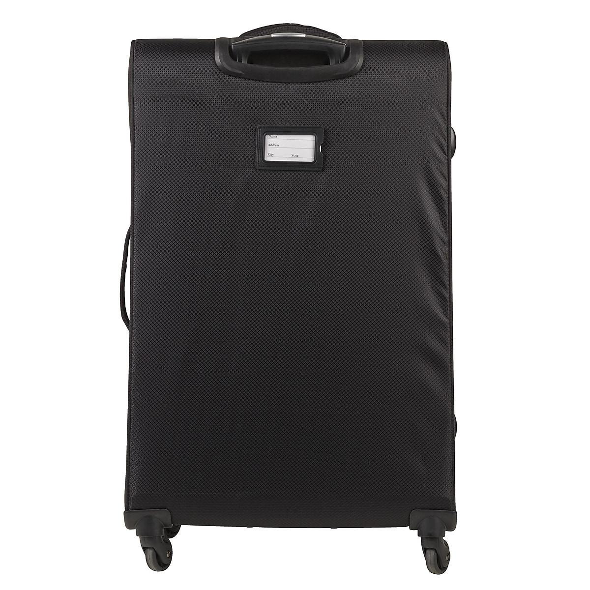 Resväska Asaklitt Lightweight, svart