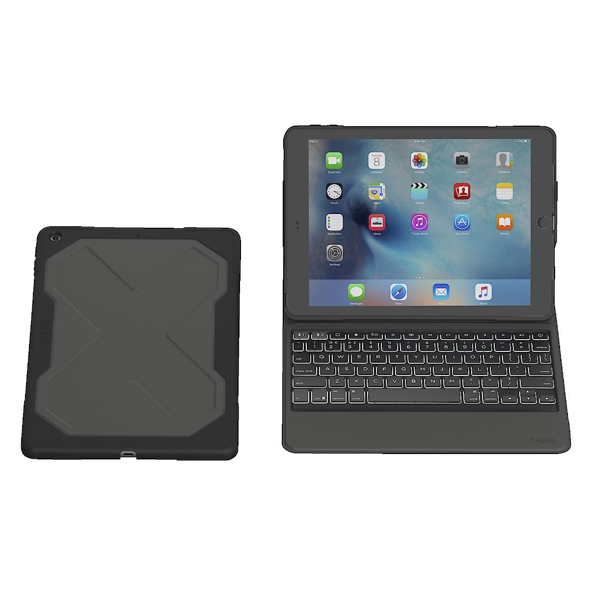 Fodral med tangentbord för iPad 97 Zagg Rugged Messenger