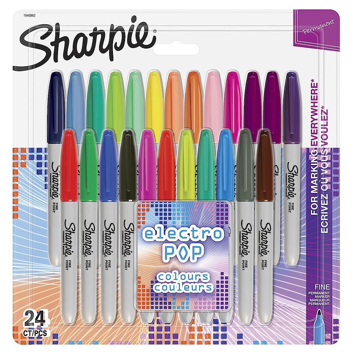 Tuschpennor Sharpie Electro Pop, 24-pack