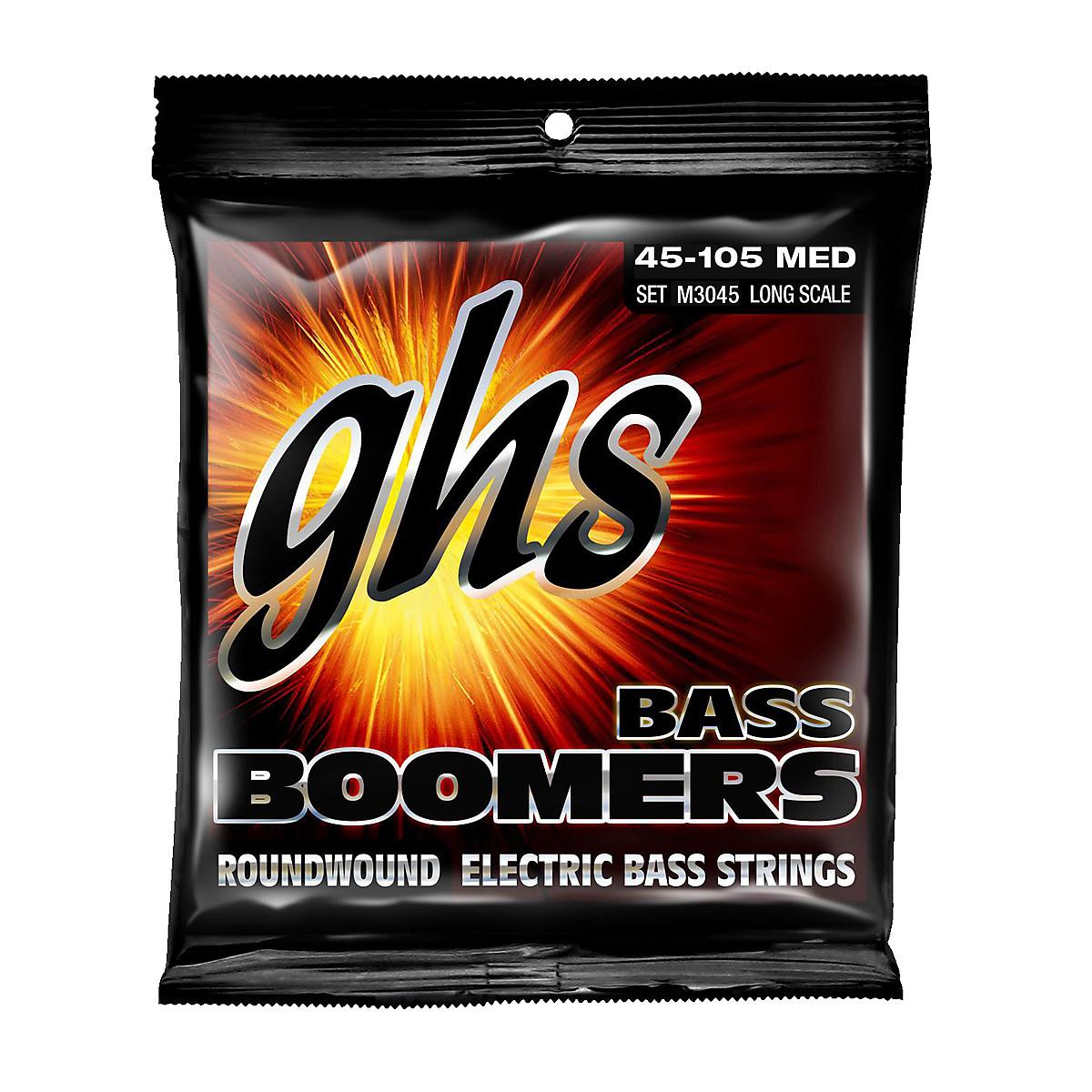 Strängar för elbas GHS Bass Boomers 45-105