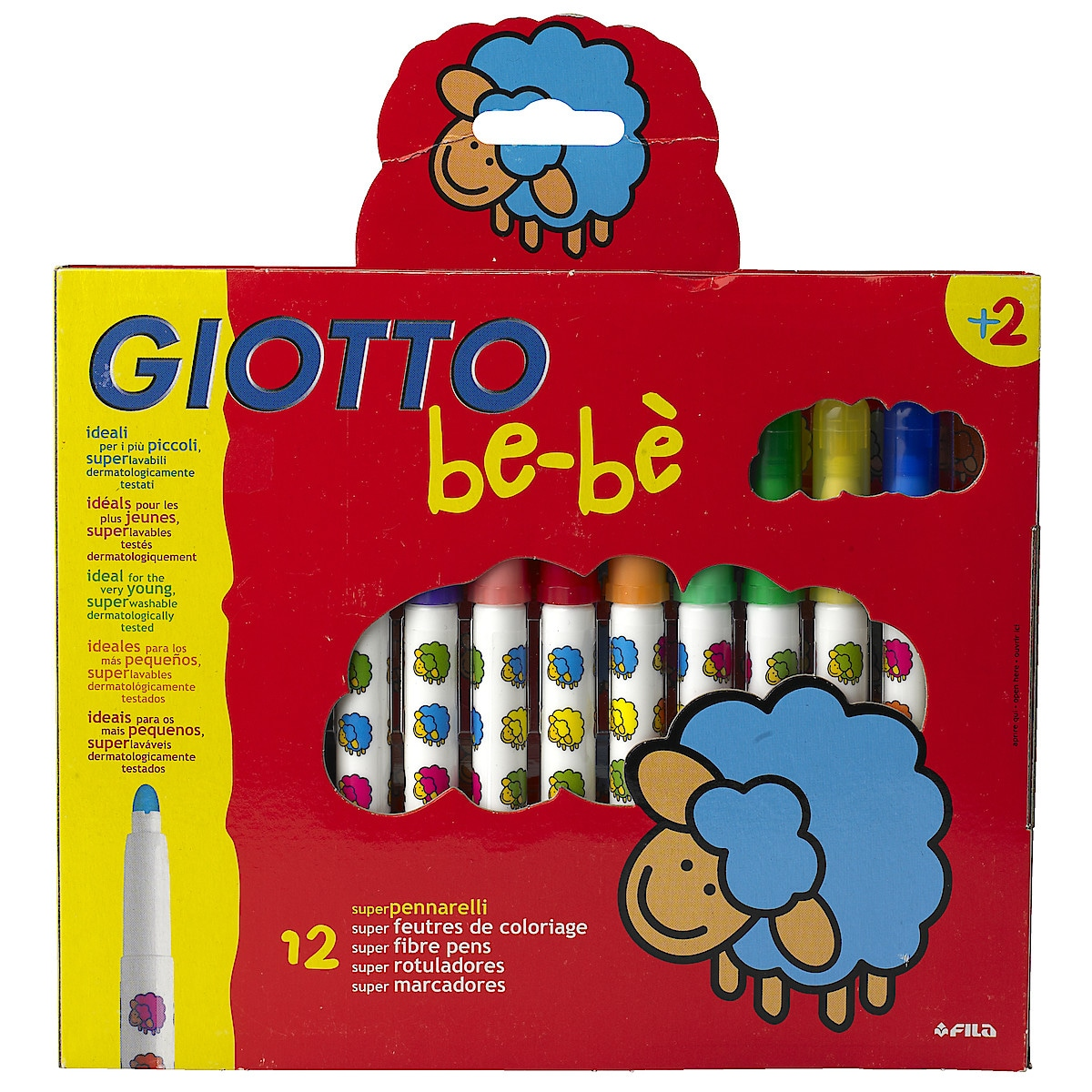 Fiberpennor Giotto BeBe Tusch 12-pack
