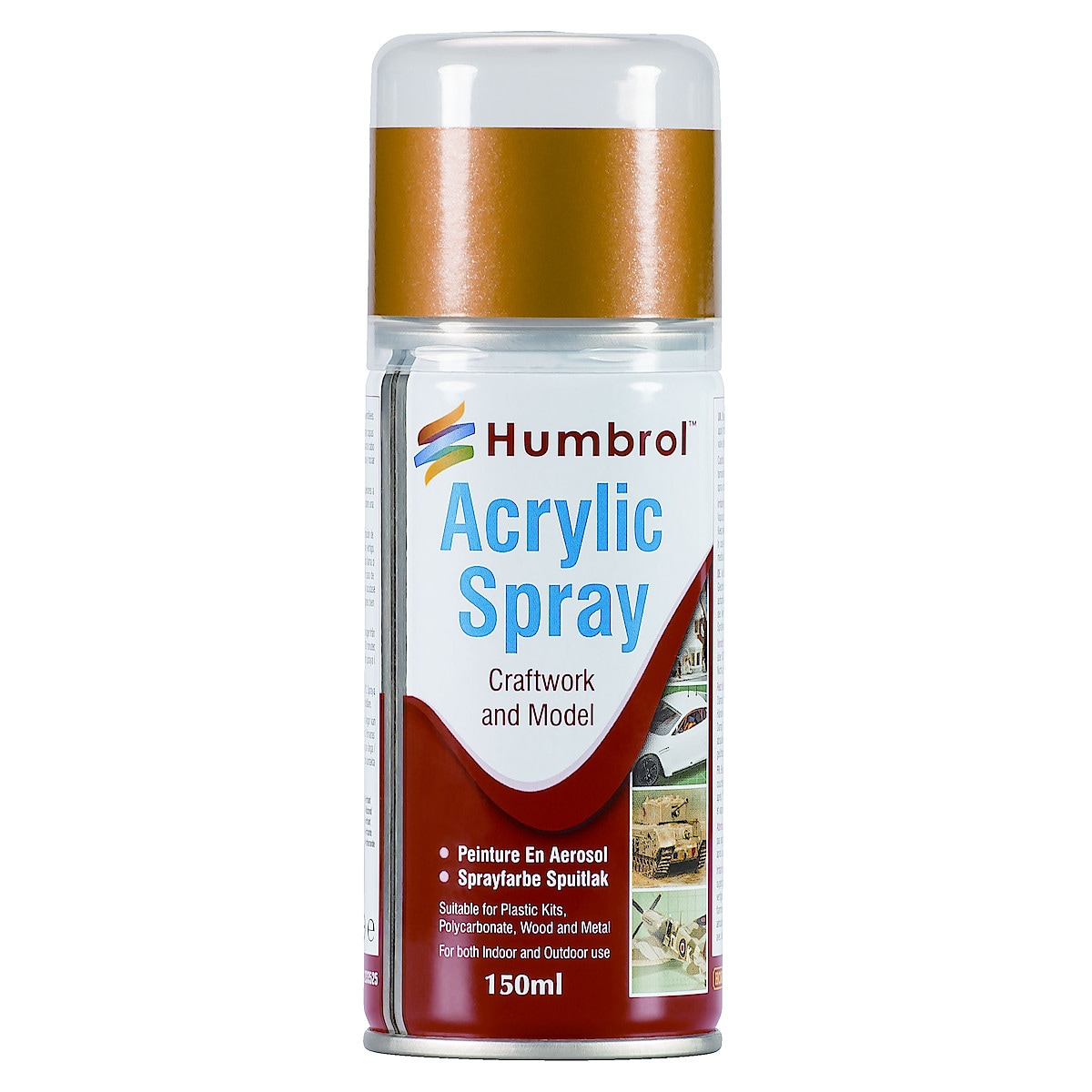 Akrylspray Humbrol mässing