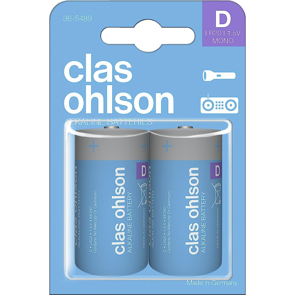 Alkaliskt batteri D/LR20 Clas Ohlson