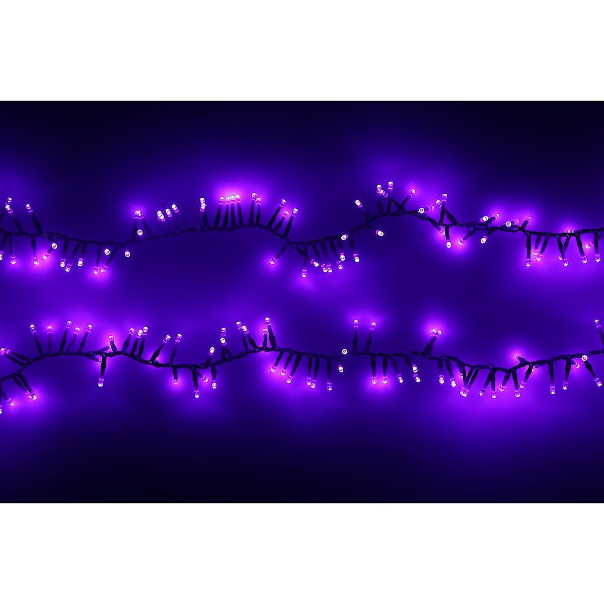 Lysslynge med 250 LED for inne- og utebruk, 2,5 m