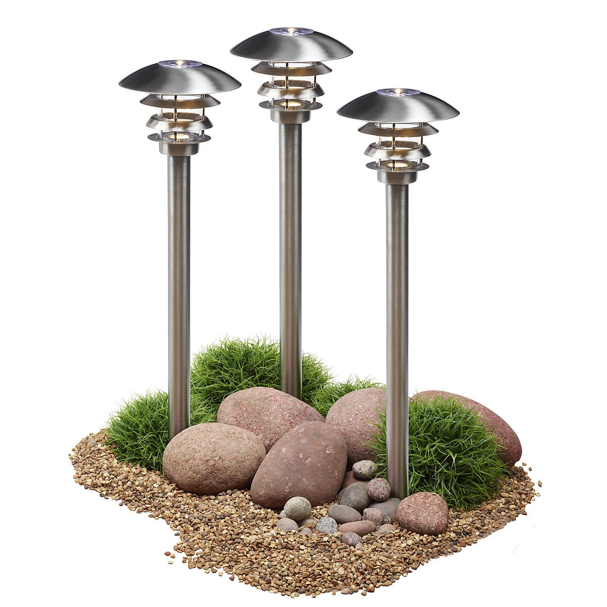LED-Gartenbeleuchtung 3er-Pack Northlight