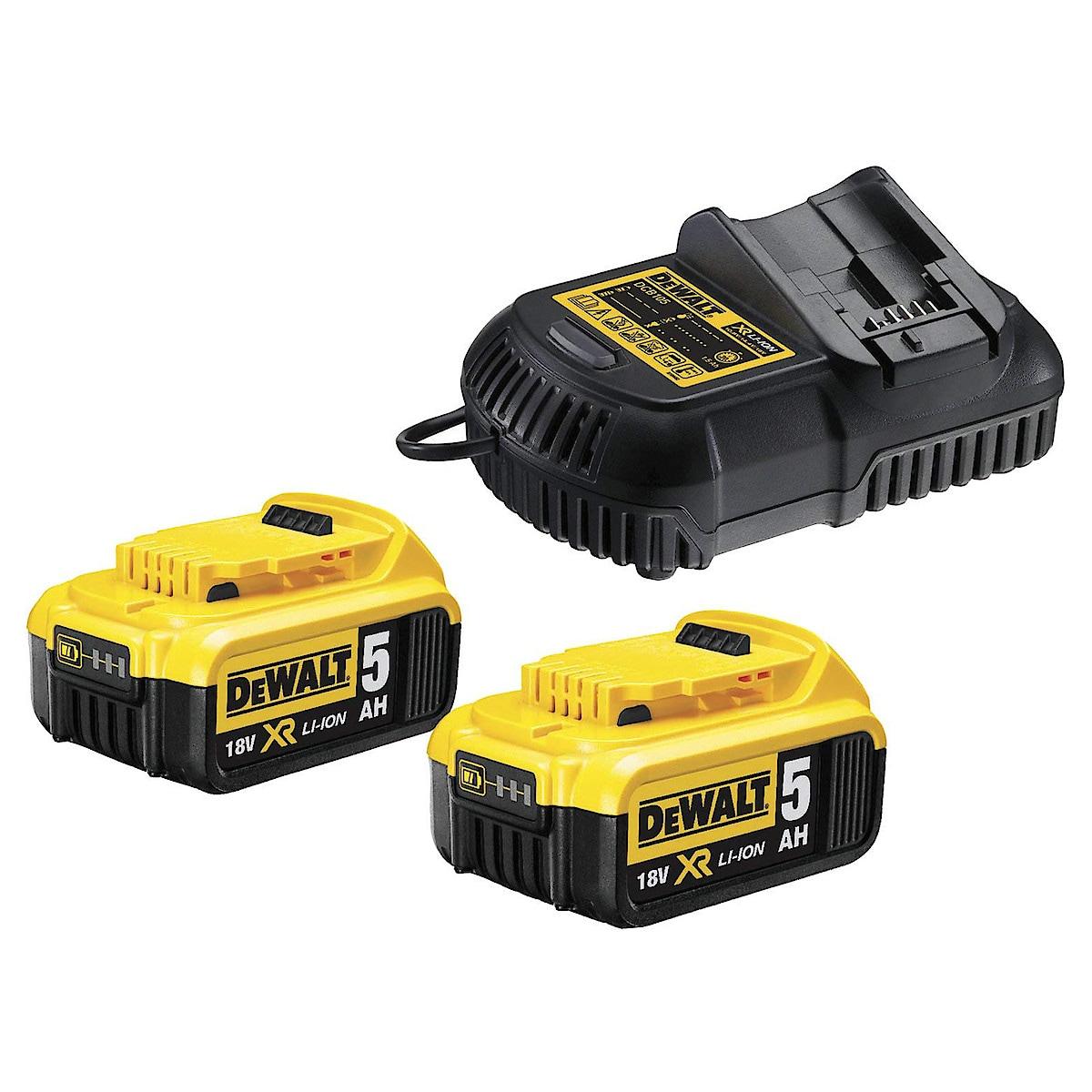 Batterier och laddare Dewalt 18 V XR DCB115P2