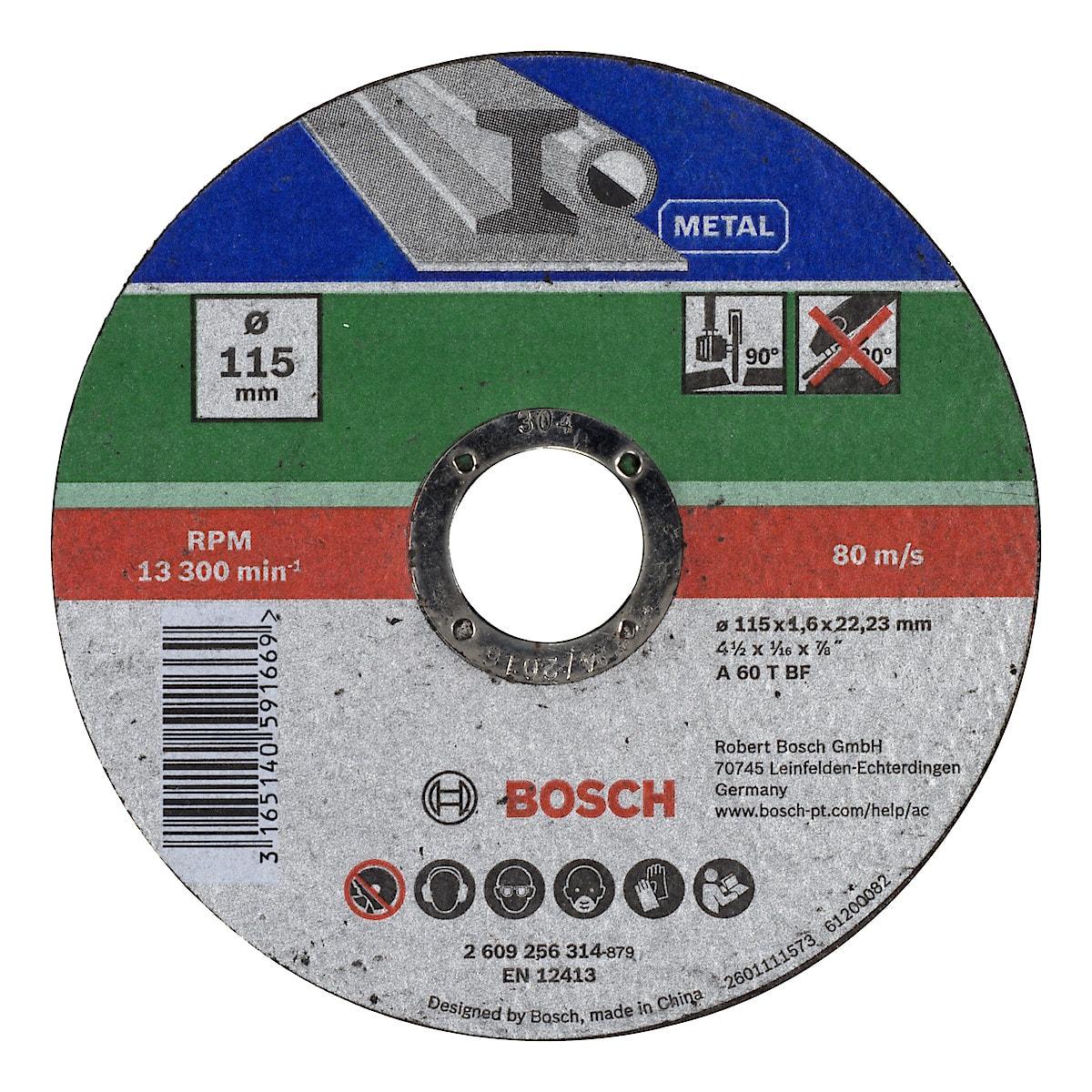 Kapskiva för metall 115 mm, Bosch