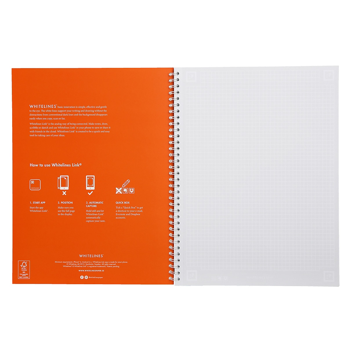 Whitelines A4 Squared Notebook