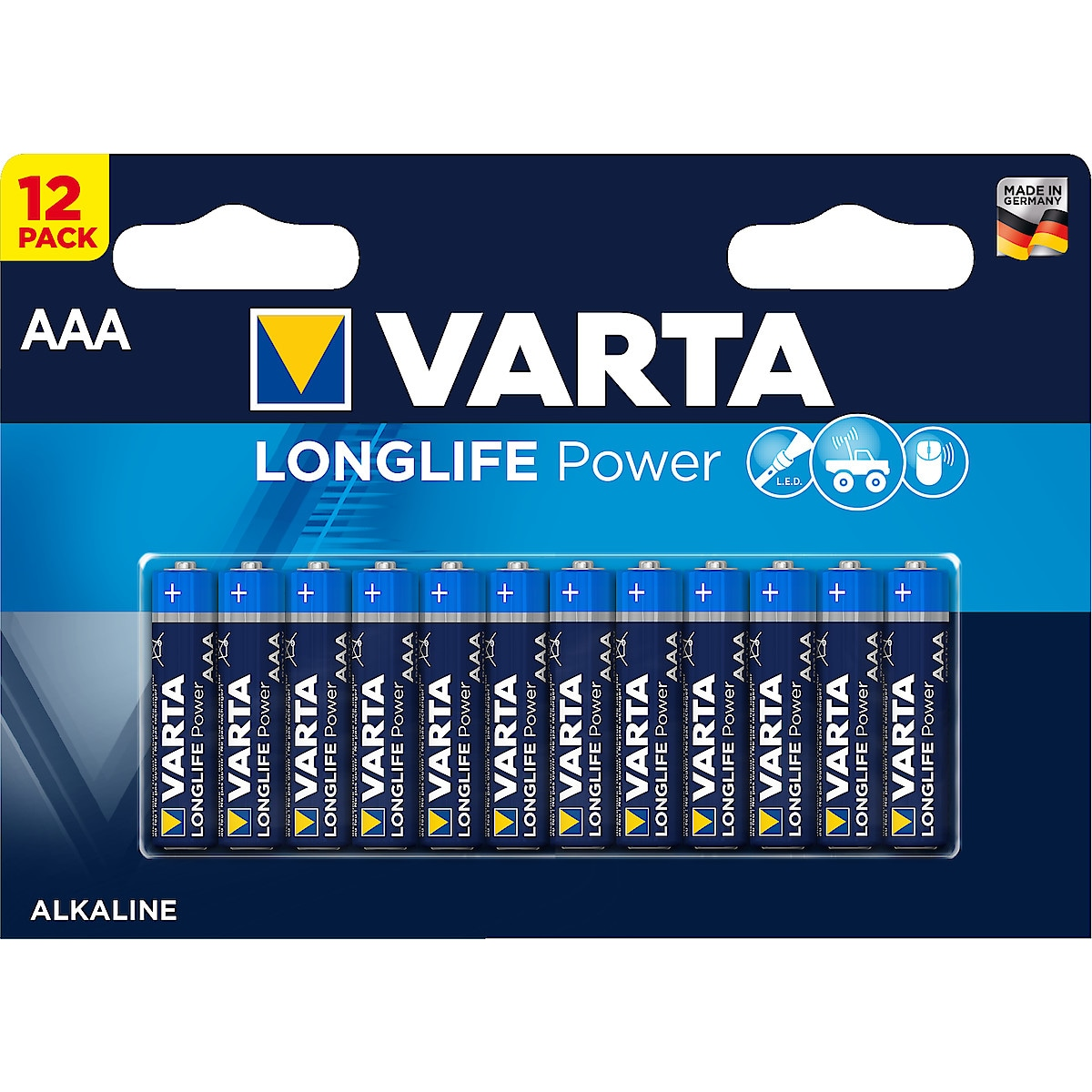 Alkaliskt batteri AAA/LR03 Varta Longlife Power