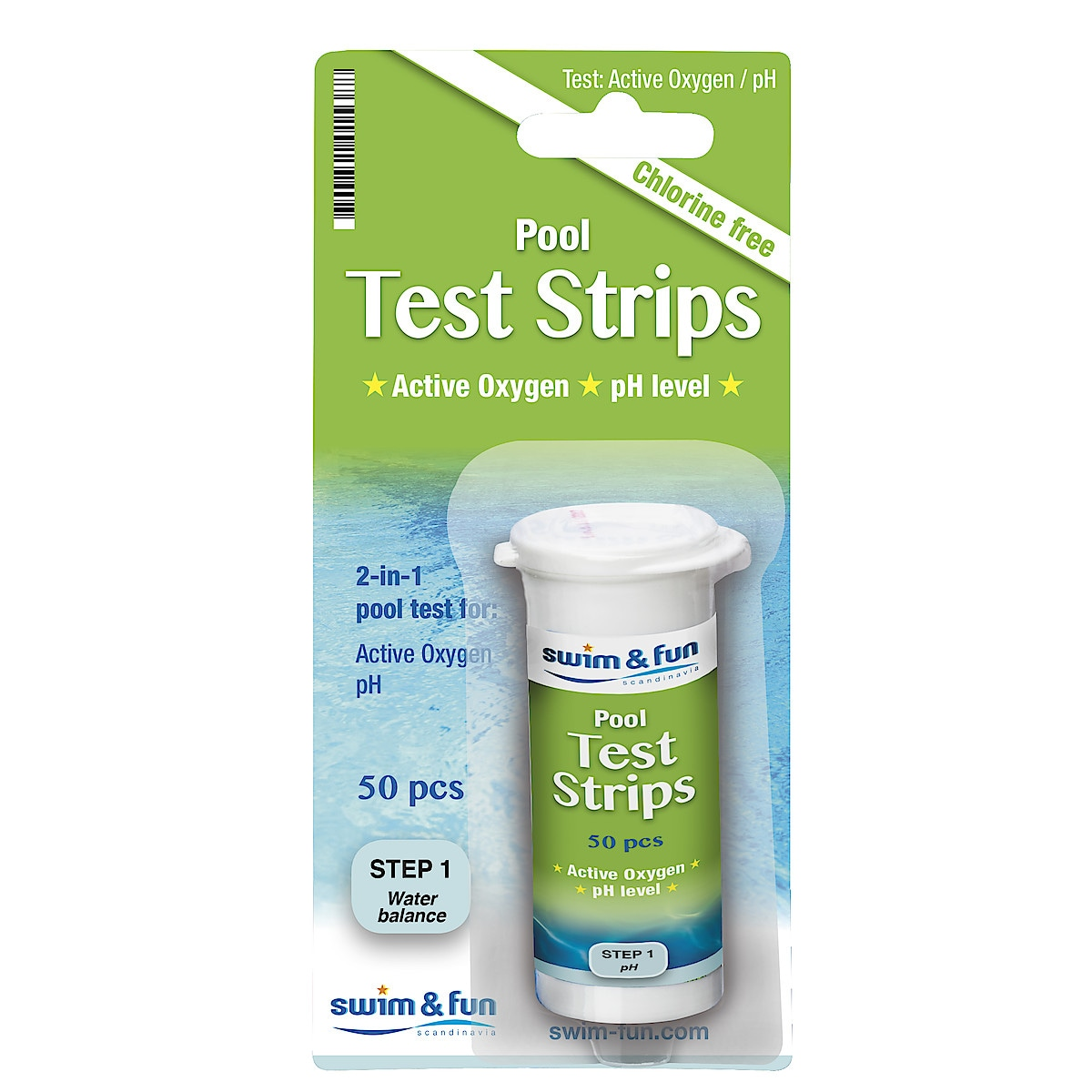 Active Oxygen and pH Test Strips