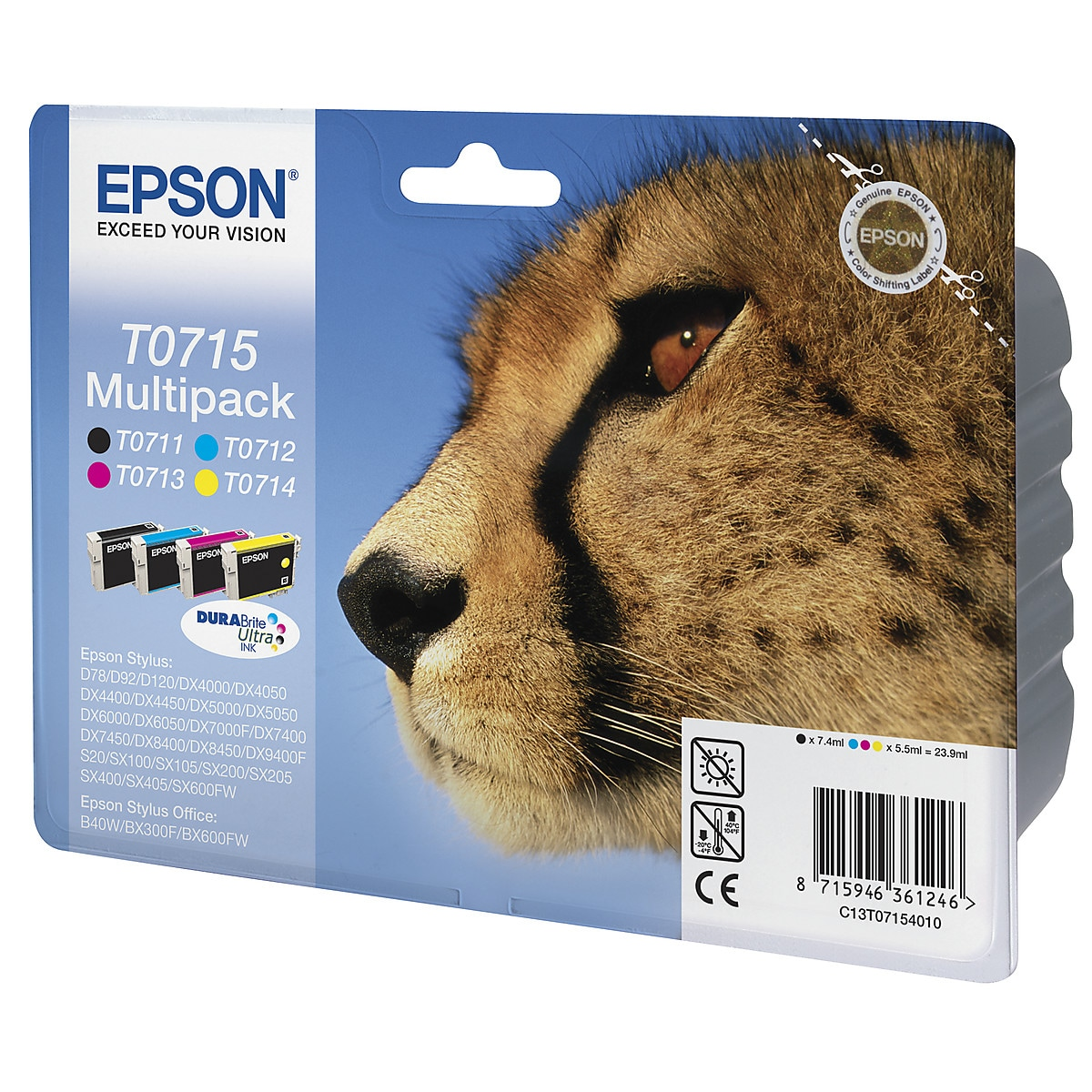 Bläckpatron Epson T0711 till T0715