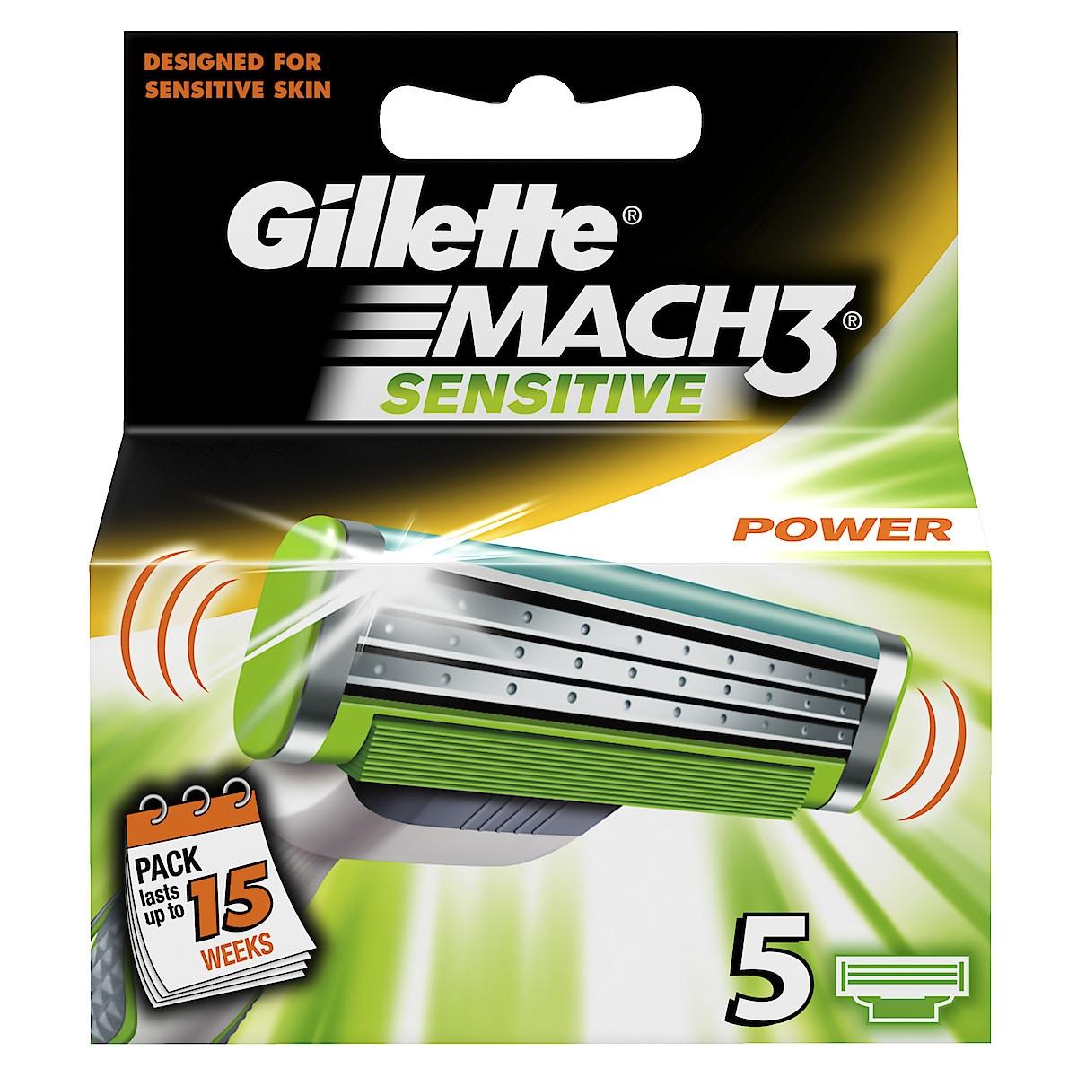 Rakblad Gillette Mach3 Sensitive Power