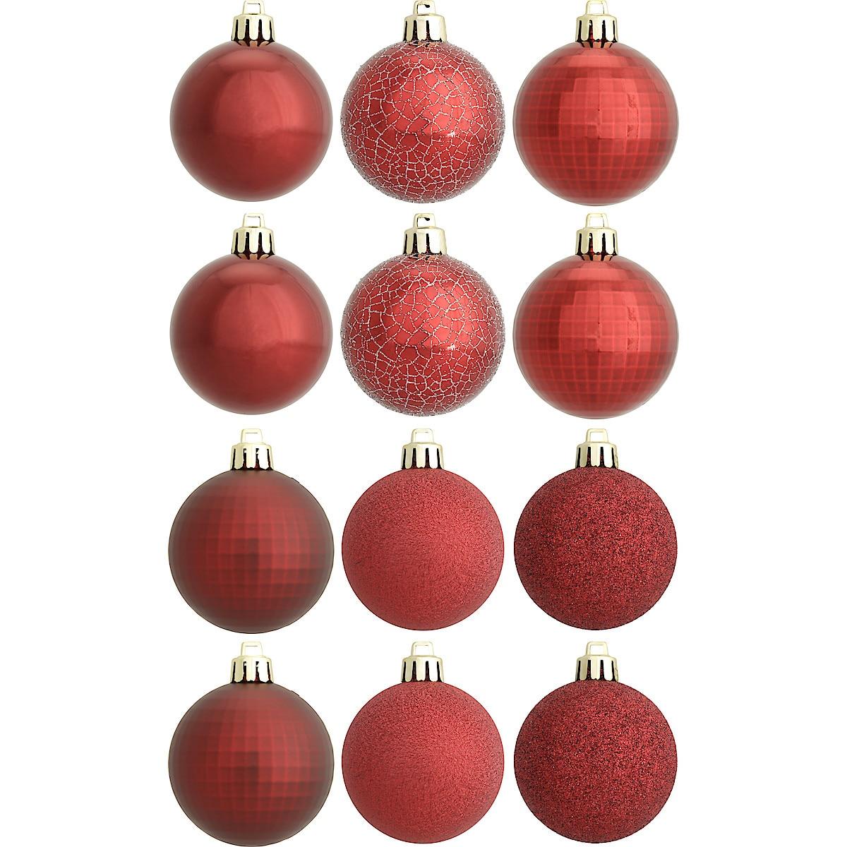 Juletrekuler 6 cm, 12-pack
