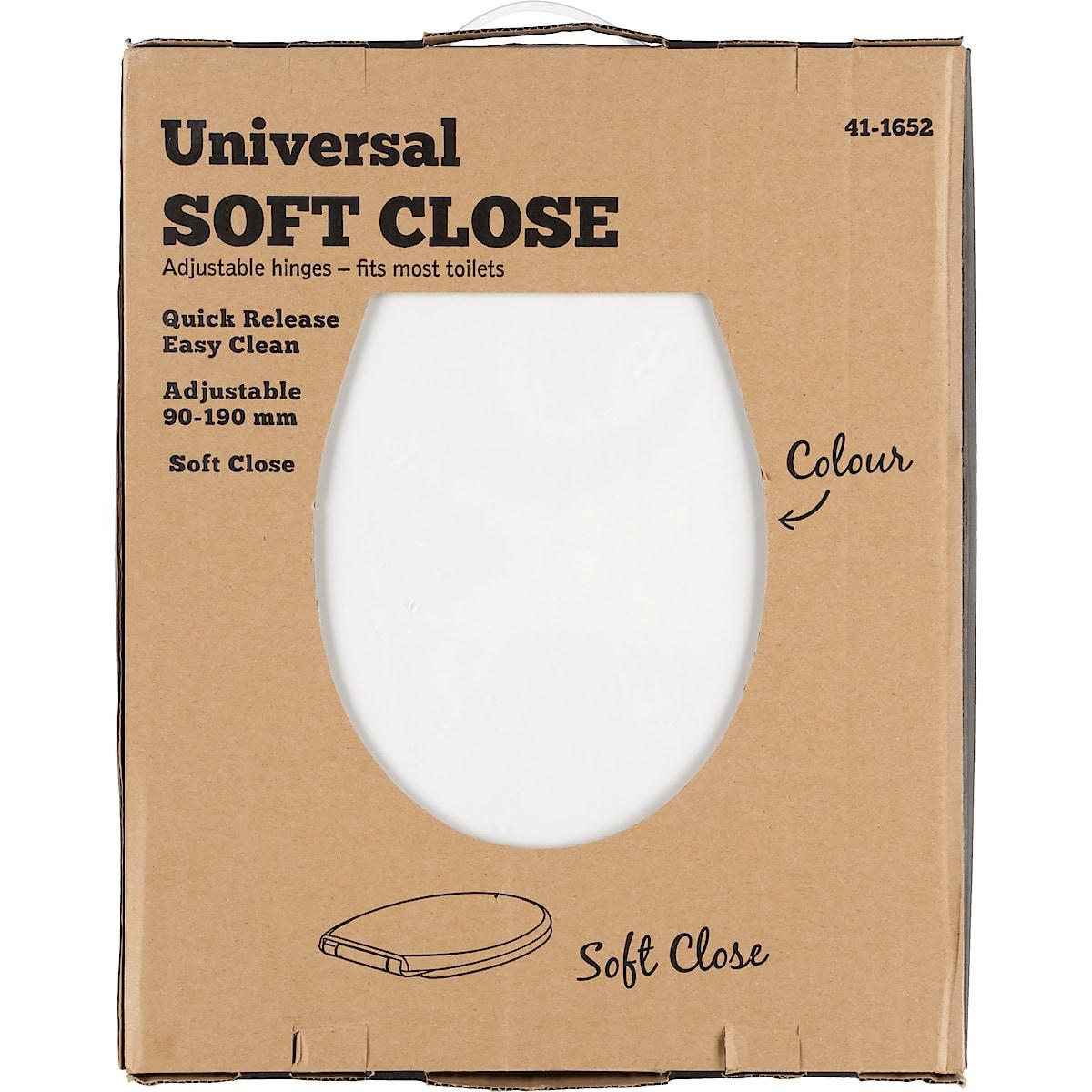 Toalettsete soft close universal PP-plast