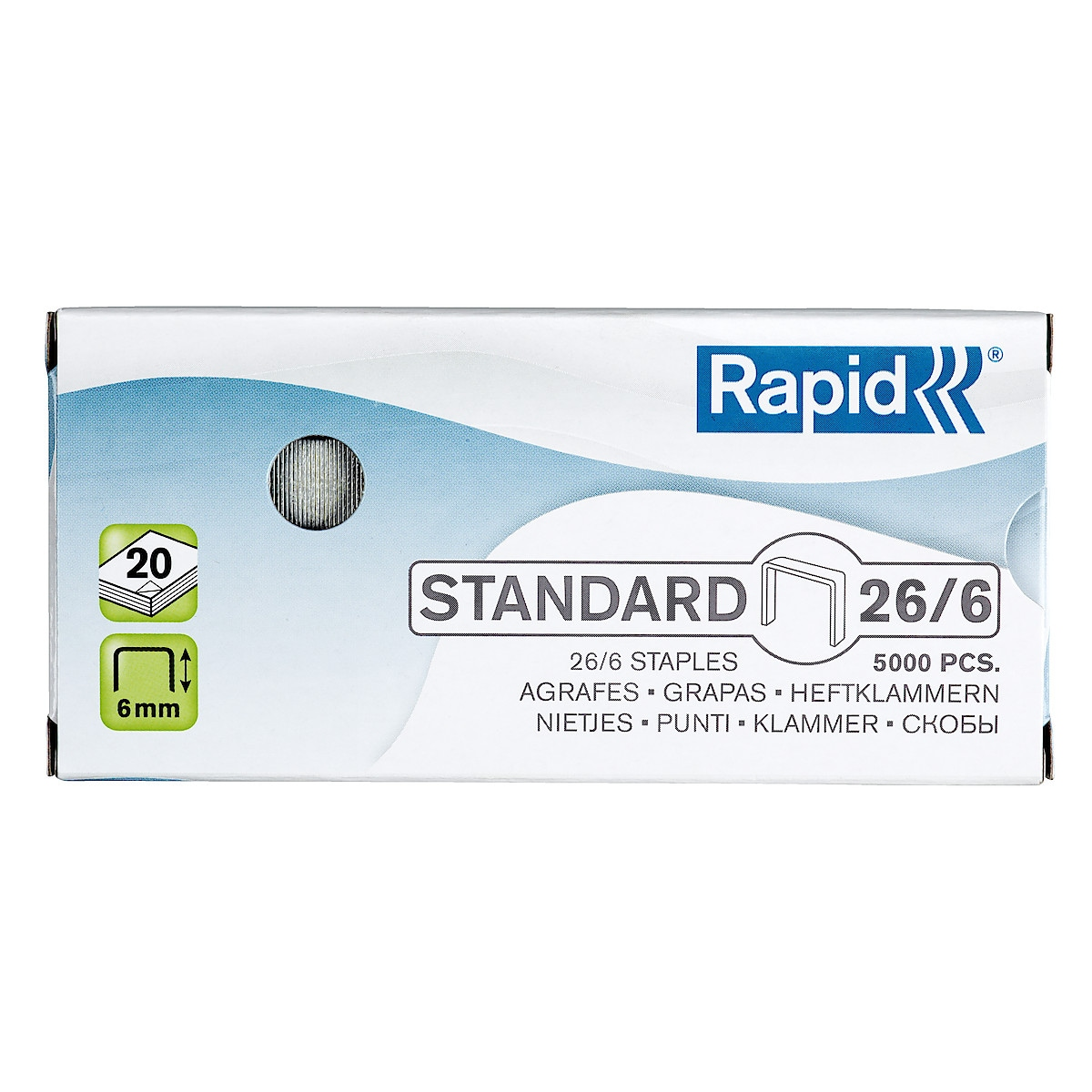 Häftklammer Rapid Standard 26/6, 5000 st.
