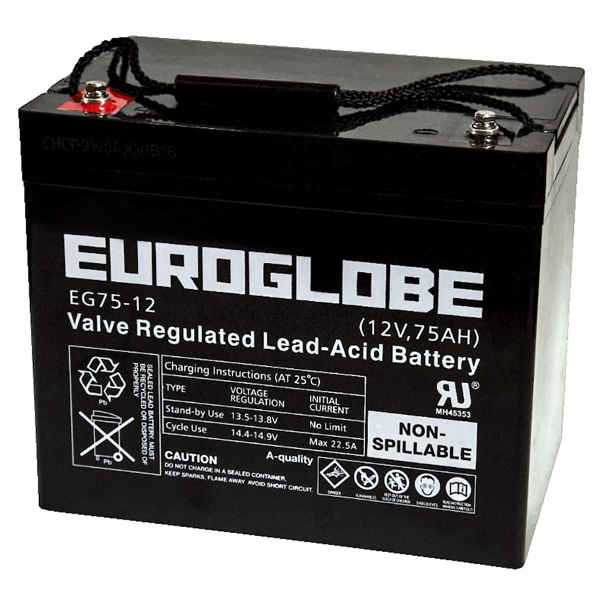 AGM-batteri 12 V 75 Ah