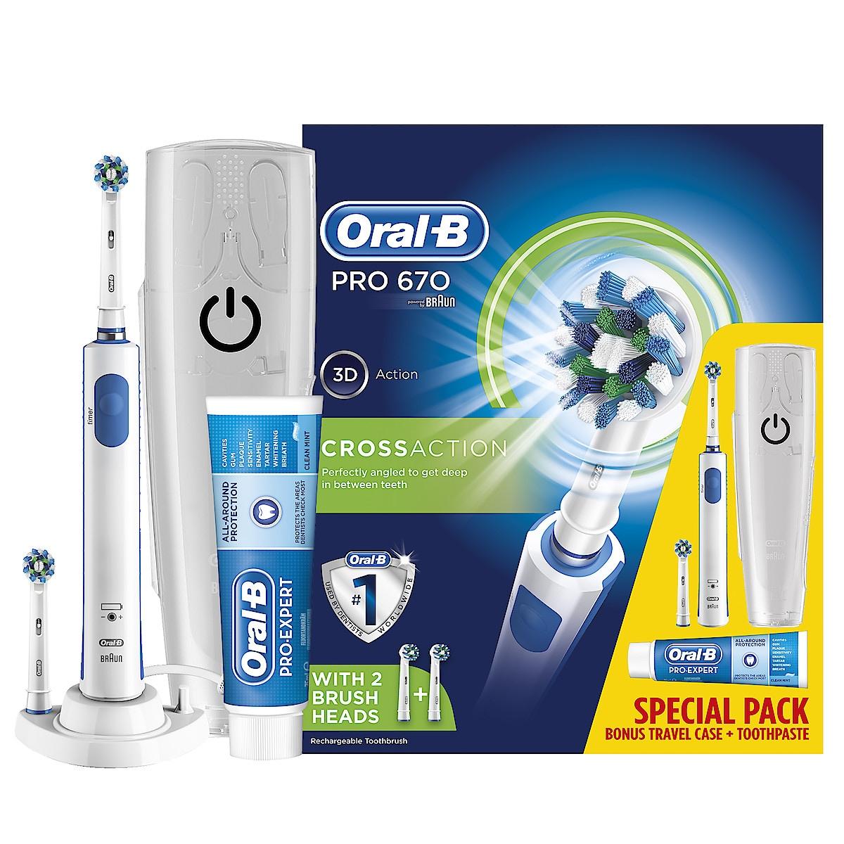 Sähköhammasharja Braun Oral-B PRO 670 Special pack