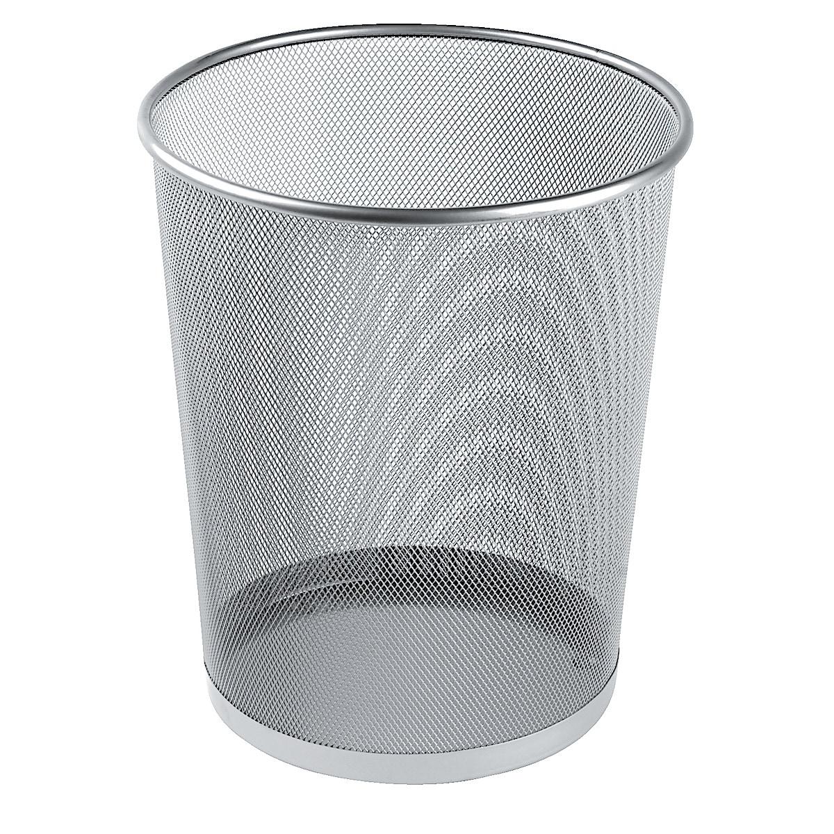 Papperskorg metall silver