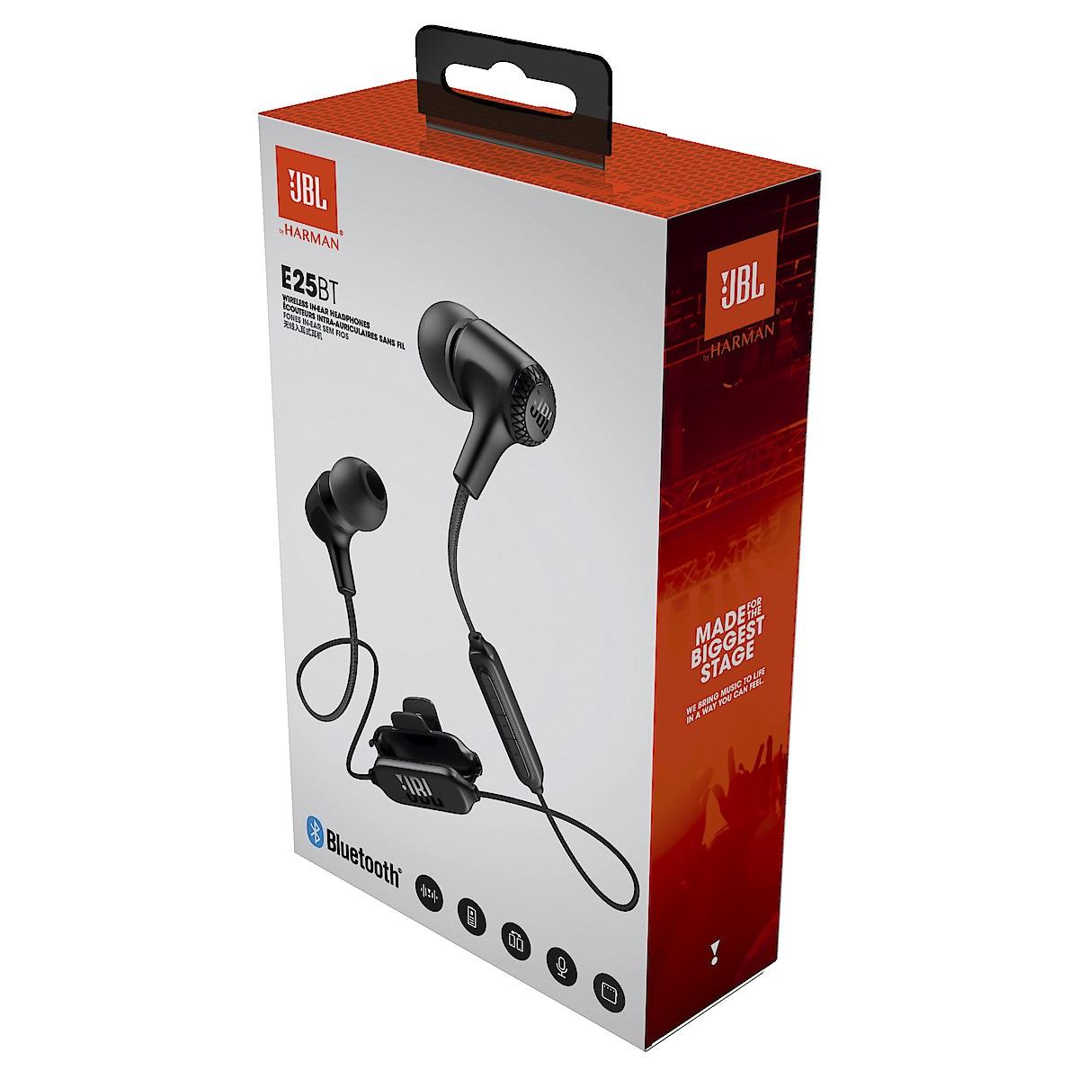 Trådlösa hörlurar med mikrofon JBL E25BT
