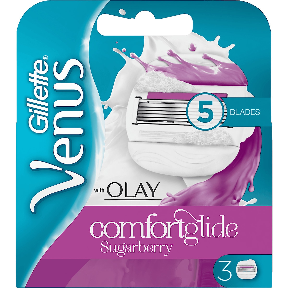Rakblad Gillette Venus & Olay Sugarberry 3-pack